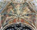 Francesco e cinque santi appartenenti all'Ordine in gloria tra gli angeli - volta della cappella del Coro, chiesa di San Francesco, Montefalco - © Comune di Montefalco