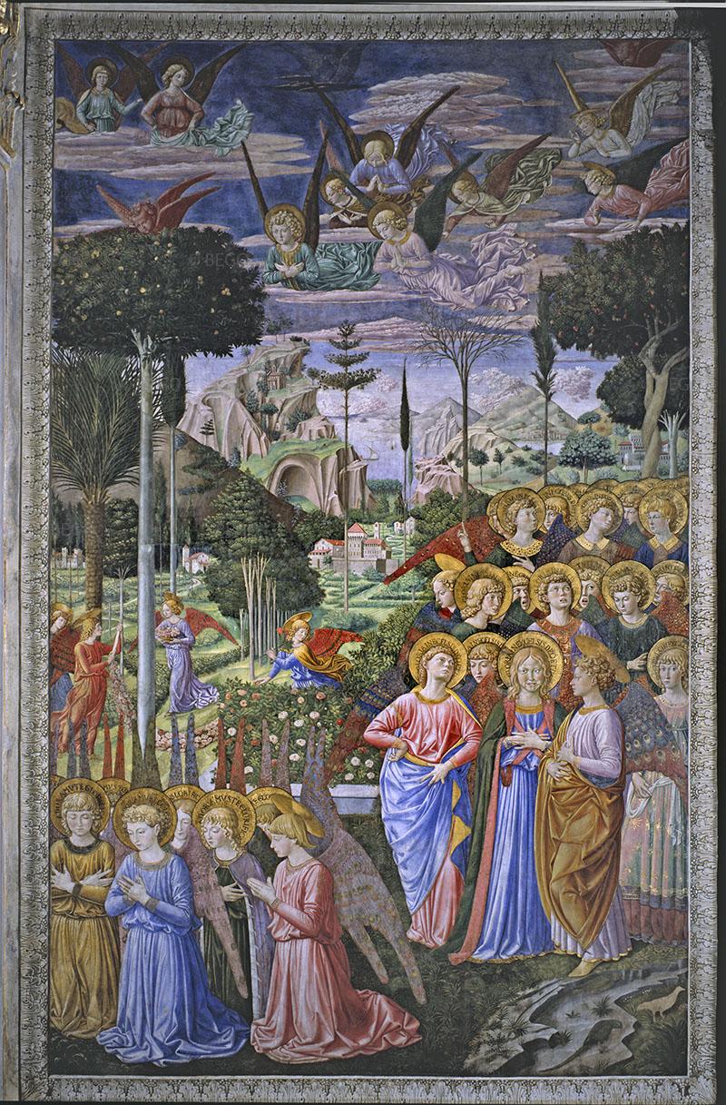 Cappella dei Magi, Angeli in adorazione -- - Firenze - © Provincia di Firenze / Antonio Quattrone