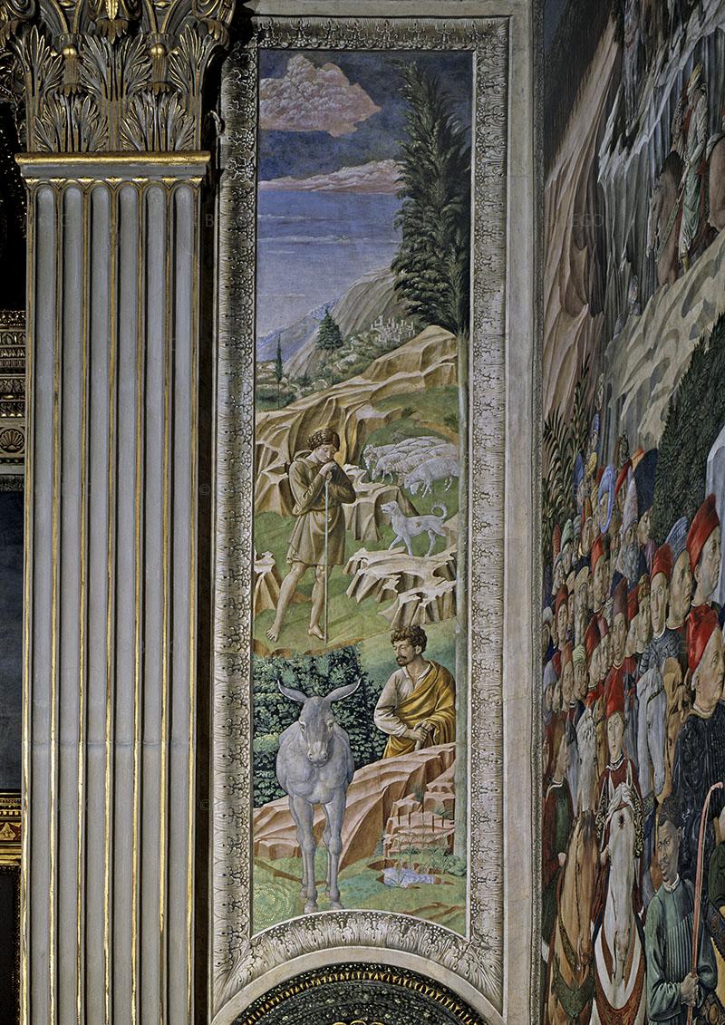 Cappella dei Magi, parete con pastori e gregge - - Firenze - © Provincia di Firenze / Antonio Quattrone