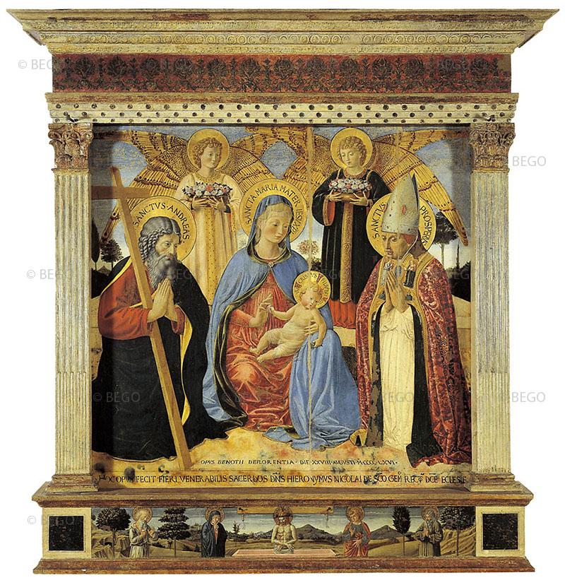 Madonna dell'umilità tra i santi Andrea e Prospero - Museo Civico, San Gimignano - © Comune di San Gimignano / Duccio Nacci