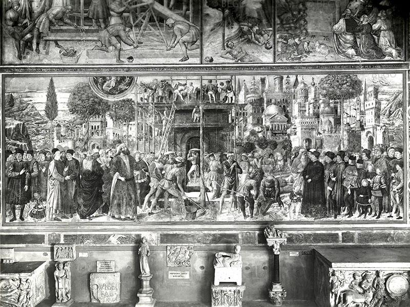 Costruzione della torre di Babele (foto Alinari 1890 ca.) - Camposanto, Pisa - © Fratelli Alinari - Firenze