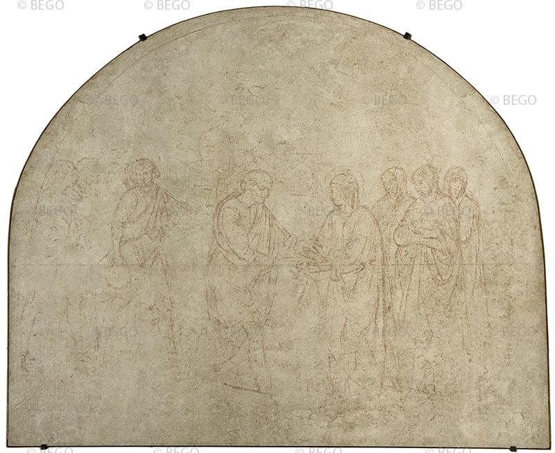 L'Incontro di Gioacchino e Anna presso la Porta Aurea (sinopia)