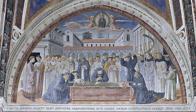 I funerali di Agostino - Chiesa di Sant'Agostino, San Gimignano - © Soprintendenza per i Beni Storici Artistici ed Etnoantropologici di Siena e Grosseto / Duccio Nacci