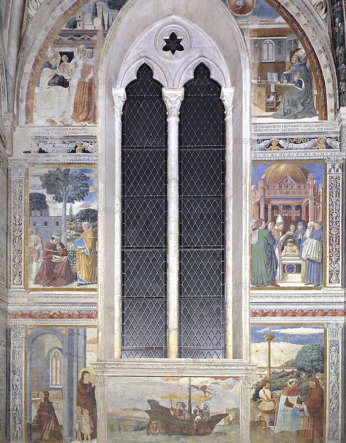 Scene della vita di sant'Agostino, Cappella del Coro - Chiesa di Sant'Agostino, San Gimignano - © Soprintendenza per i Beni Storici Artistici ed Etnoantropologici di Siena e Grosseto / Duccio Nacci