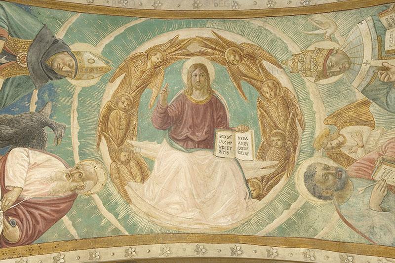 Gli Evangelisti e i Dottori della Chiesa 2 - Intradosso del tabernacolo della Visitazione, dettaglio