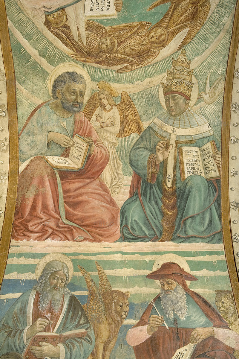 Gli Evangelisti e i Dottori della Chiesa 4 - Intradosso del tabernacolo della Visitazione, dettaglio