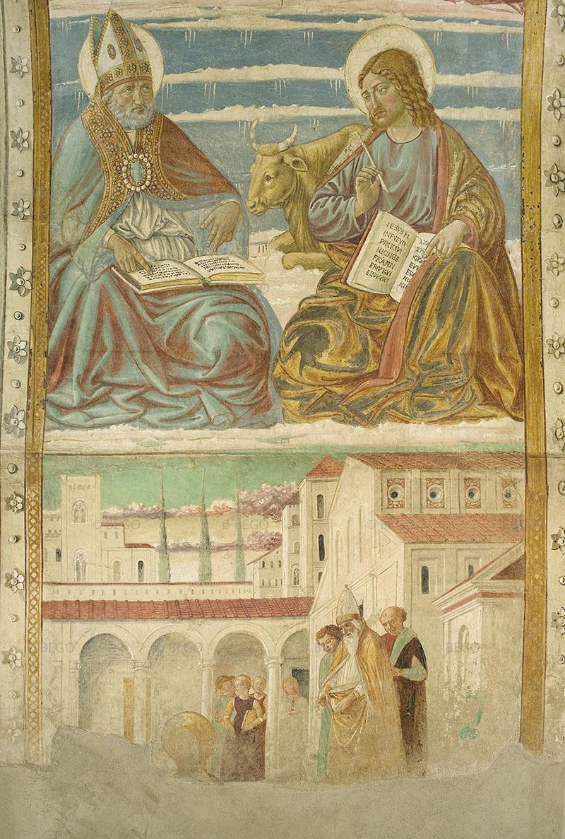 Gli Evangelisti e i Dottori della Chiesa 5 - Intradosso del tabernacolo della Visitazione, dettaglio