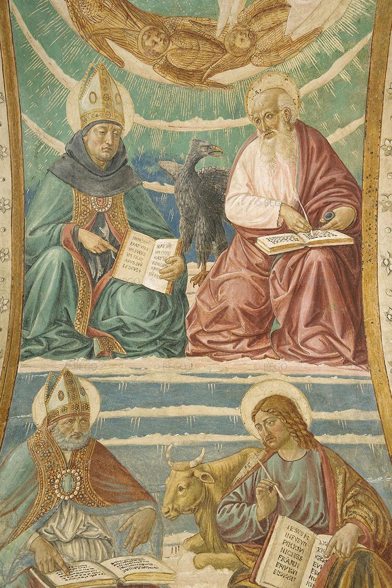 Gli Evangelisti e i Dottori della Chiesa 6 - Intradosso del tabernacolo della Visitazione, dettaglio