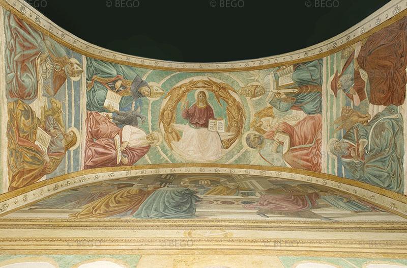 Gli Evangelisti e i Dottori della Chiesa - Intradosso del tabernacolo della Visitazione