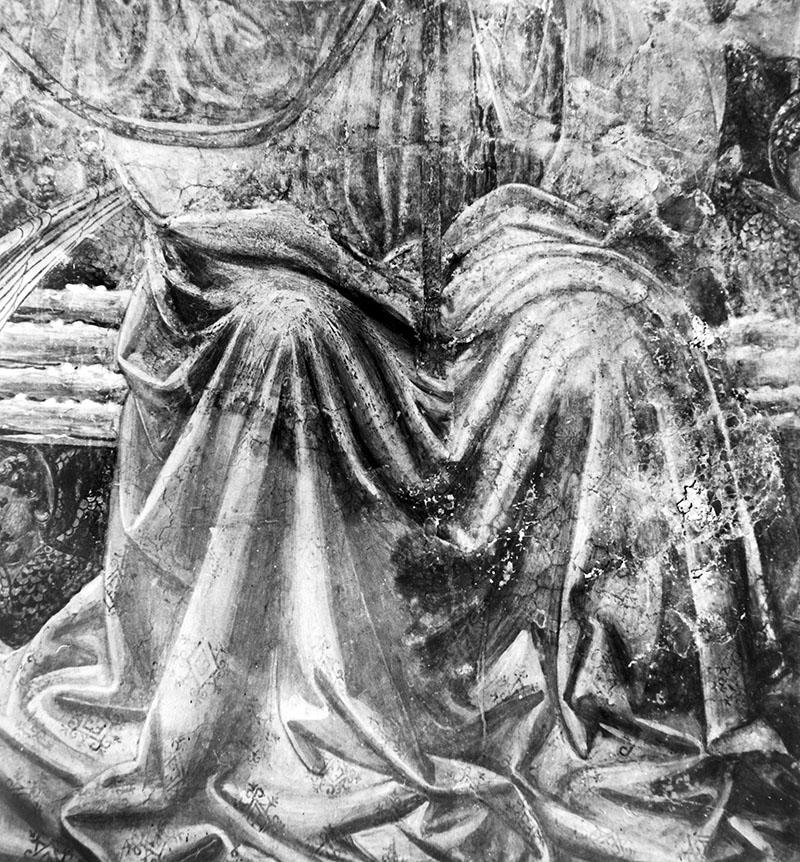 I danni provocati dalla solfatazione dell'intonaco - Dovuto all'alto tasso di umidità subito dal tabernacolo della Visitazione