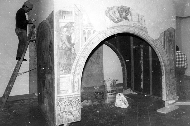 Il restauro degli affreschi del tabernacolo della Visitazione negli anni Ottanta