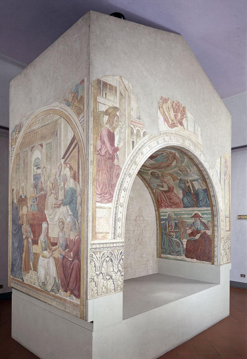 Il tabernacolo della Visitazione nei locali della Biblioteca di Castelfiorentino