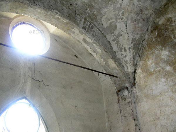 Dettaglio dell'interno del tabernacolo della Madonna della Tosse