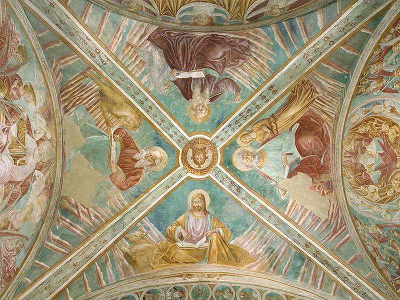 Gesù benedicente e i quattro Apostoli