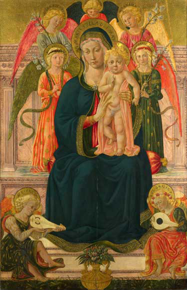 Madonna col Bambino e angeli, National Gallery, London