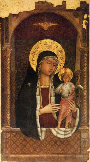 Madonna col Bambino sotto un baldacchino - Chiesa di Santa Maria sopra Minerva, Roma