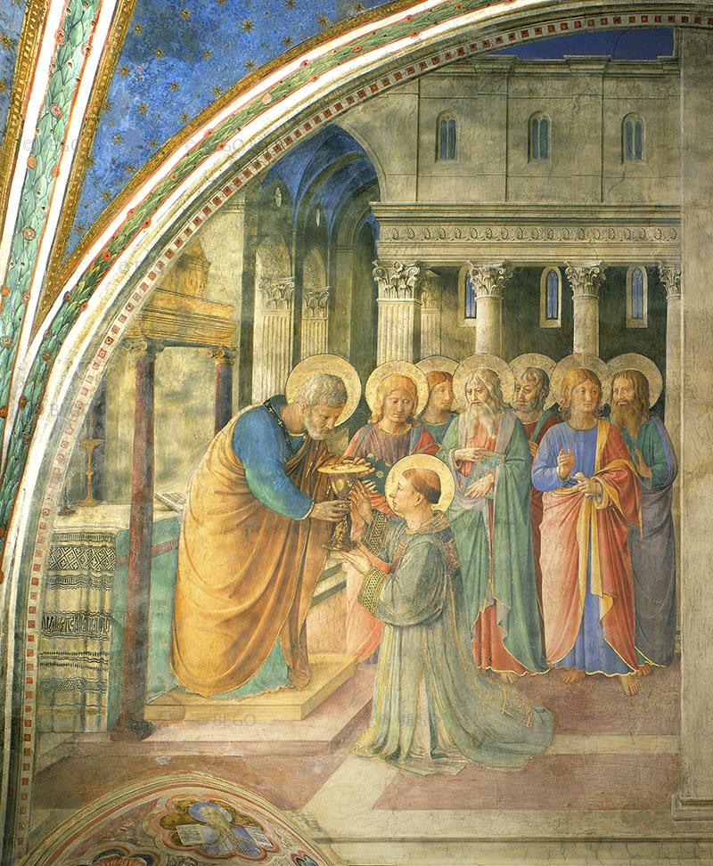 Santo Stefano riceve il diaconato e distribuisce l'elememosina - Cappella Niccolina, Vaticano - © Musei Vaticani / Archivio Fotografico Scala - Bagno a Ripoli (FI)