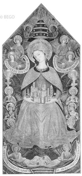 Madonna e angeli - Collegiata, Sermoneta - © Collegiata di Santa Maria
