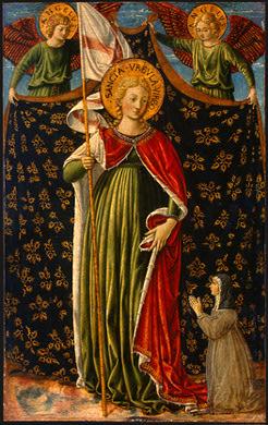 Sant'Orsola, due angeli reggicortina e la donatrice - National Gallery of Art, Washington