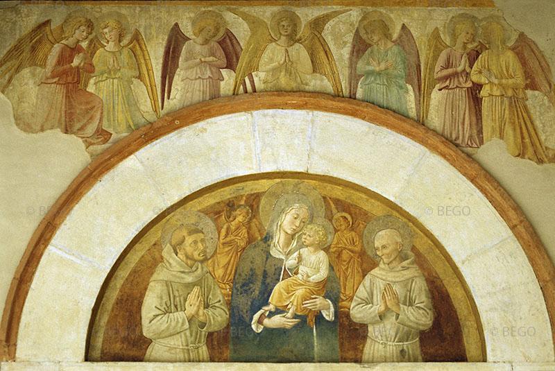 Vergine col Bambino tra i santi Francesco e Bernardino - Chiesa di San Fortunato, Montefalco