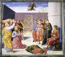 Caduta di Simon Mago, predella della pala Alessandri - Metropolitan Museum of Art, New York
