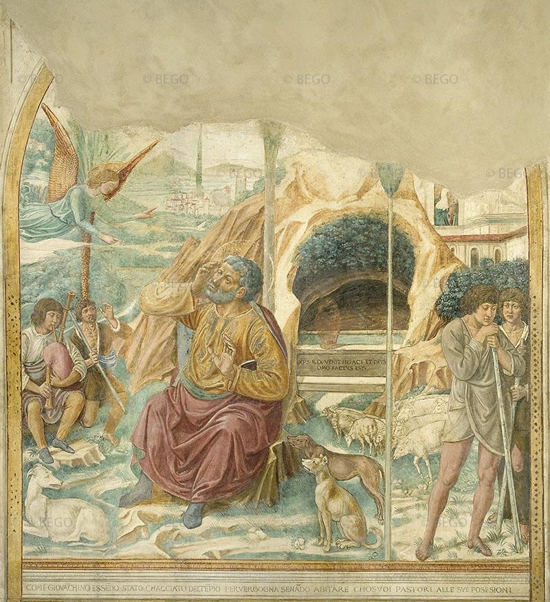 Il Sogno di Gioacchino - Tabernacolo della Visitazione, Museo Benozzo Gozzoli, Castelfiorentino - © Comune di Castelfiorentino / Antonio Quattrone