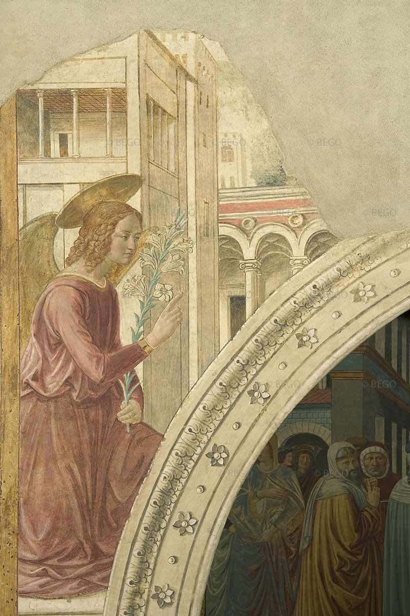 L'Annunciazione dell'arcangelo Gabriele alla Vergine - tabernacolo della Visitazione, Museo Benozzo Gozzoli, Castelfiorentino - © Comune di Castelfiorentino / Antonio Quattrone
