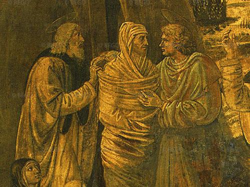 Resurrezione di Lazzaro, particolare - National Gallery of Art, Washington